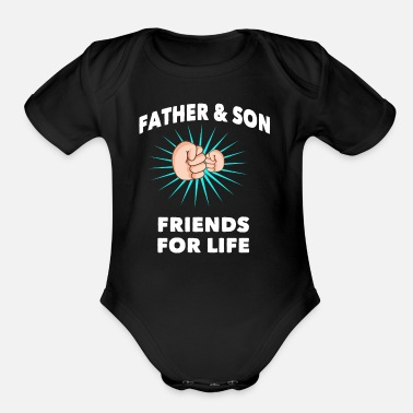 be54674e Father And Son Father & son - Organic Short-Sleeved Baby Bodysuit