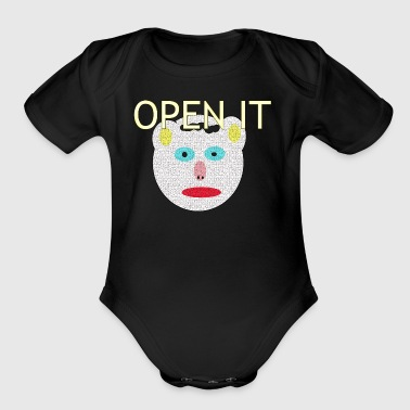 OPEN IT - Organic Short Sleeve Baby Bodysuit