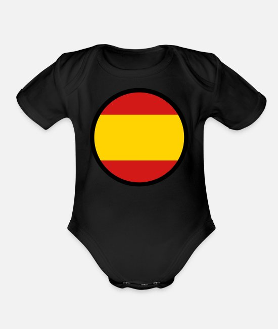 Don Quijote Baby One Pieces - Marked By Spain - Organic Short-Sleeved Baby Bodysuit black