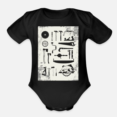 Tools Carpenter Tools - Organic Short-Sleeved Baby Bodysuit
