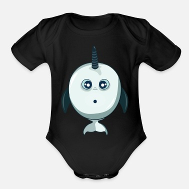 Narwhal Narwhal - Organic Short Sleeve Baby Bodysuit