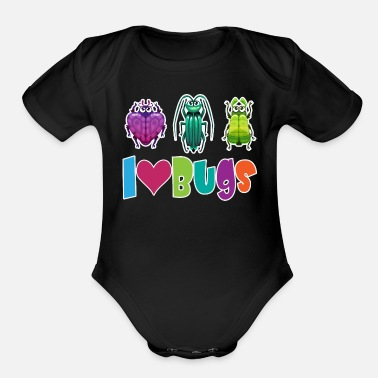 Trio I Love Bugs - Organic Short-Sleeved Baby Bodysuit