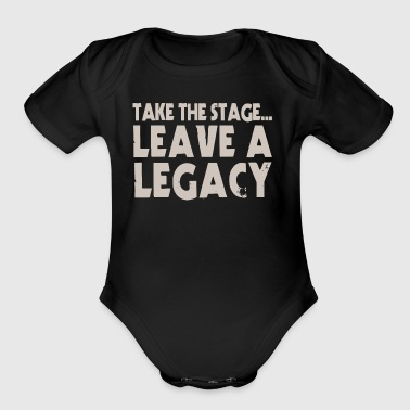 Take The Stage - Organic Short Sleeve Baby Bodysuit