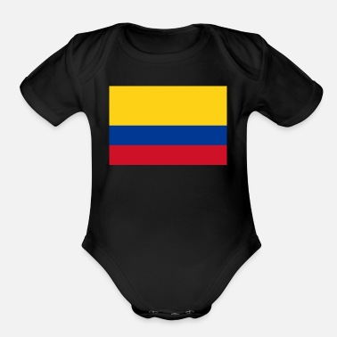 National Flag Of Colombia - Organic Short-Sleeved Baby Bodysuit