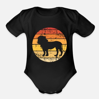 Kingdom Lion Silhouette - Organic Short-Sleeved Baby Bodysuit