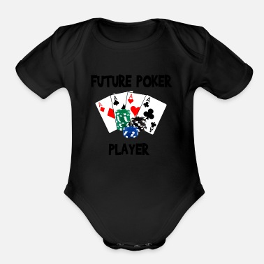 Poker future_poker_player - Organic Short Sleeve Baby Bodysuit