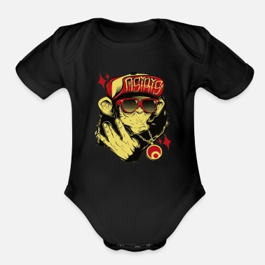 Hop hip hop - Organic Short-Sleeved Baby Bodysuit