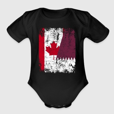 Roots CANADA QATAR FLAG - Organic Short Sleeve Baby Bodysuit