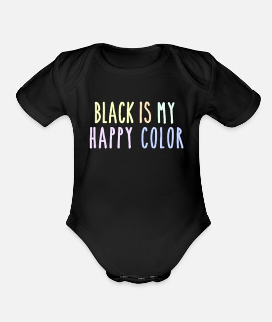 Witchcraft Baby One Pieces - Funny Pastel Goth Gift Aesthetic Black Is My - Organic Short-Sleeved Baby Bodysuit black