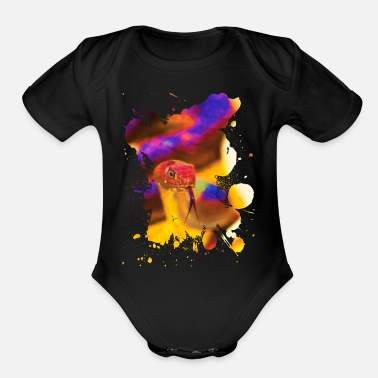 Tongue Snake Tongue - Organic Short Sleeve Baby Bodysuit