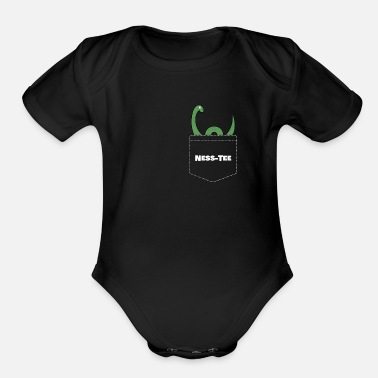 Loch Ness Monster Monster of Loch Ness Nessy - Organic Short Sleeve Baby Bodysuit