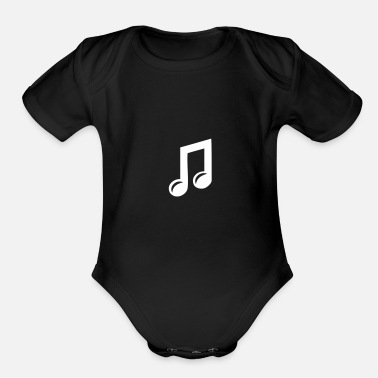 Audio Music Note - Organic Short Sleeve Baby Bodysuit
