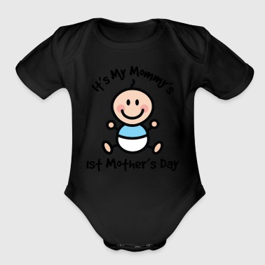 Baby's 1st Mother's Day - Organic Short Sleeve Baby Bodysuit
