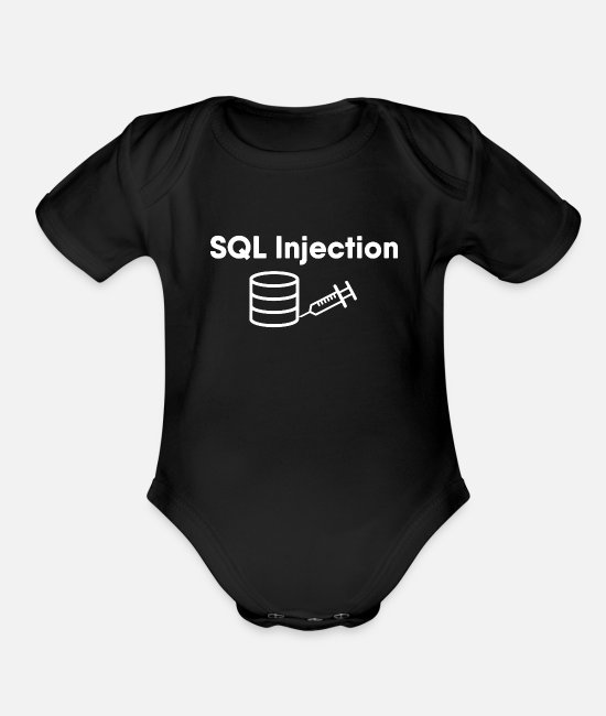 Linux Baby One Pieces - SQL Injection - Organic Short-Sleeved Baby Bodysuit black