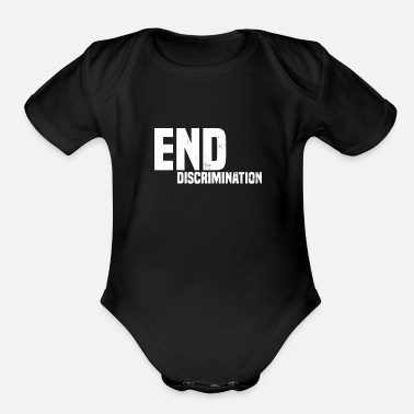 Democracy Anti Discrimination End Discrimination Gift - Organic Short Sleeve Baby Bodysuit