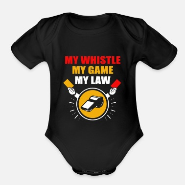 Hockey Referee Ref Red Card Yellow Football Costume Pipe - Organic Short-Sleeved Baby Bodysuit