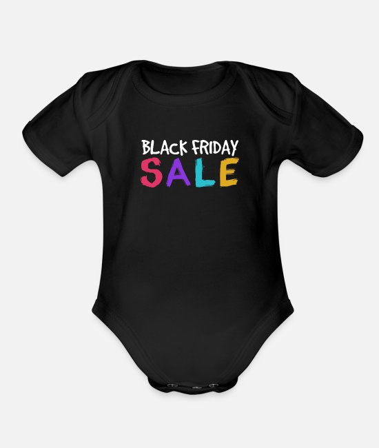 Sale Baby One Pieces - Black Friday sale - Organic Short-Sleeved Baby Bodysuit black