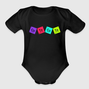 cutecute - Organic Short Sleeve Baby Bodysuit
