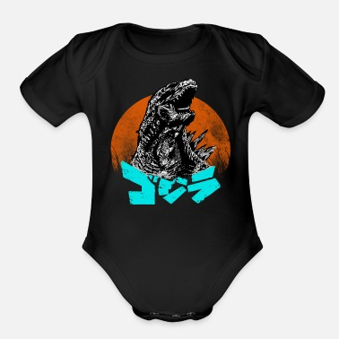 Popular The king of all Kaiju - Organic Short-Sleeved Baby Bodysuit
