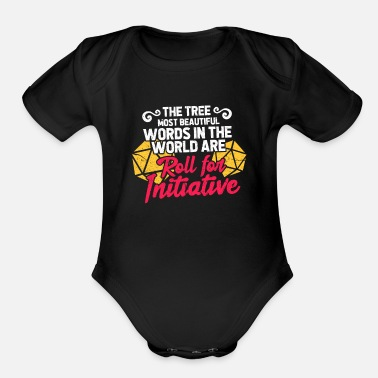 Characters The Three Most Beautiful Words In The World Are Ro - Organic Short-Sleeved Baby Bodysuit