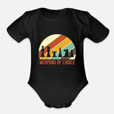 Chess Chess - Organic Short Sleeve Baby Bodysuit