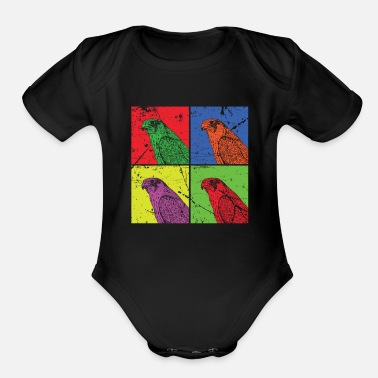 Rodent Hawk Beak Rodent Feather - Organic Short Sleeve Baby Bodysuit