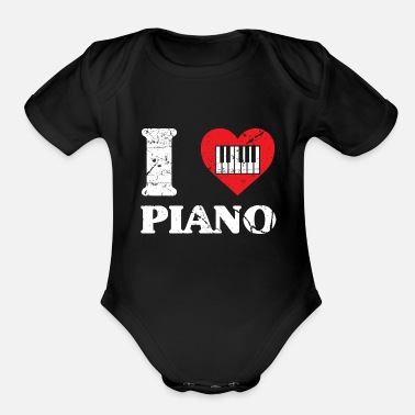Piano Piano Concert Nobly virtuoso musician - Organic Short Sleeve Baby Bodysuit