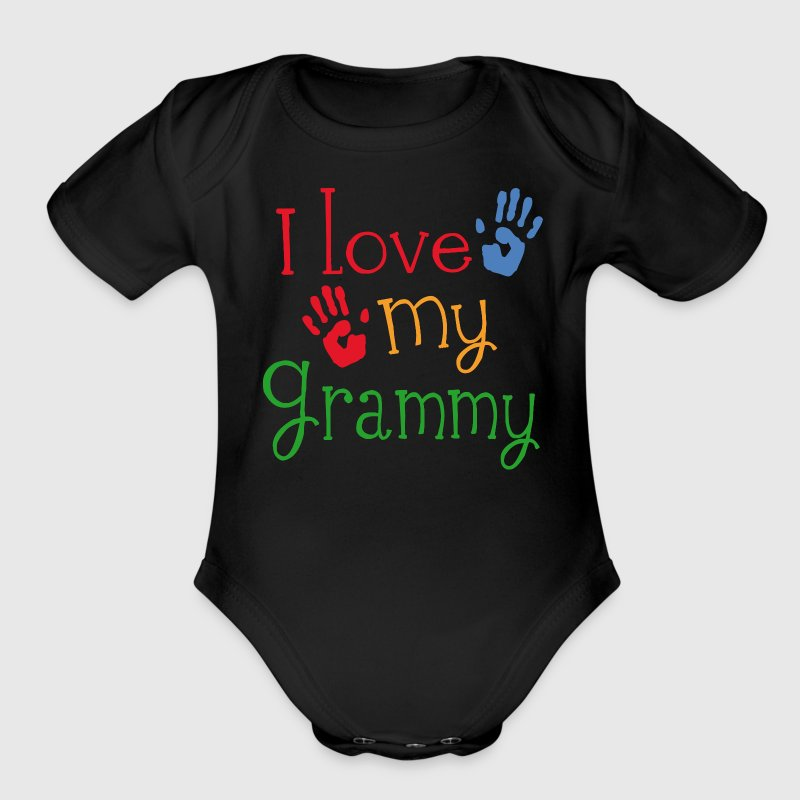 I Love My Grammy - Organic Short Sleeve Baby Bodysuit