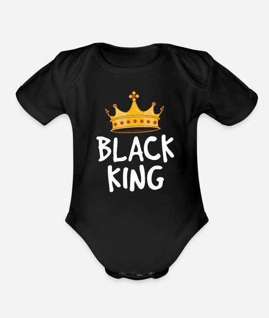 Black Power Baby One Pieces - Black King Shirts for Men Kids Boys African - Organic Short-Sleeved Baby Bodysuit black