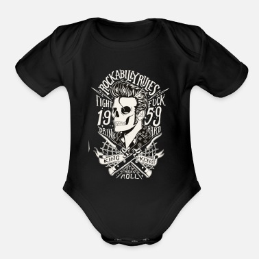 Rock And Rule Rock A billy Rules - Organic Short-Sleeved Baby Bodysuit