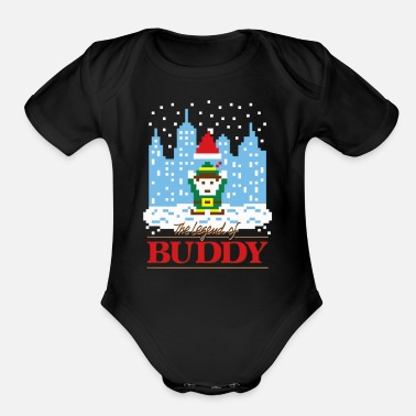 Buddy The Legend of Buddy - Organic Short-Sleeved Baby Bodysuit