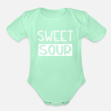 Sour Sweet and sour - Organic Short-Sleeved Baby Bodysuit