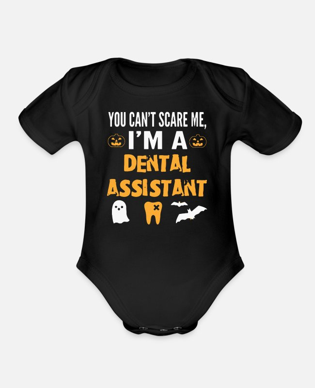 Dental Assistant Baby One Pieces - Dental Assistant - Organic Short-Sleeved Baby Bodysuit black