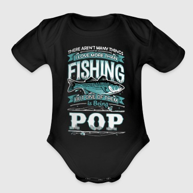 FISHING POP - Organic Short Sleeve Baby Bodysuit