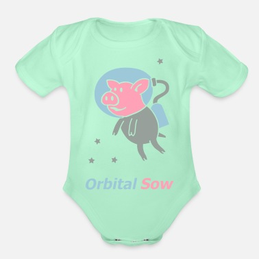 Sow Orbital sow - Organic Short-Sleeved Baby Bodysuit