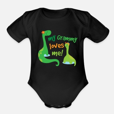 Grammy My Grammy Loves Me - Organic Short-Sleeved Baby Bodysuit