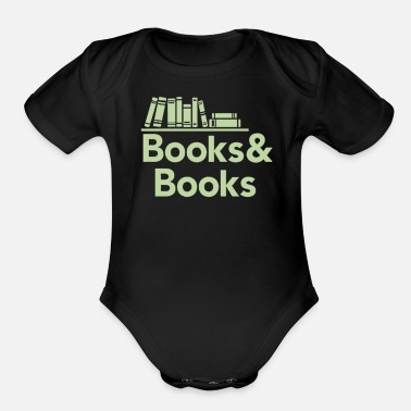 Book Books and books - Organic Short-Sleeved Baby Bodysuit