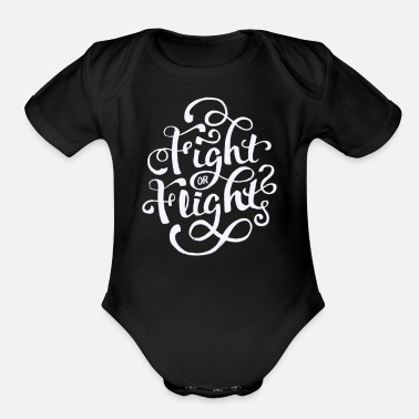 Fighting Fight or fight - Organic Short-Sleeved Baby Bodysuit