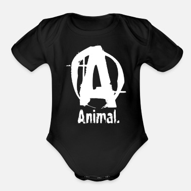 Funny Animals Animal Funny - Organic Short-Sleeved Baby Bodysuit