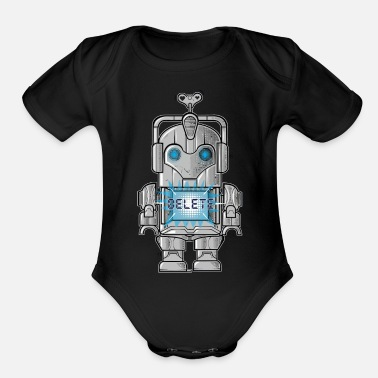 Winding Staircase WIND UP CYBERMAN - Organic Short-Sleeved Baby Bodysuit