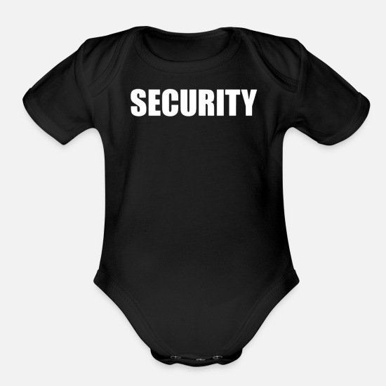 Security Service Baby Clothing - Security - Organic Short-Sleeved Baby Bodysuit black