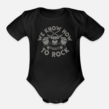 We Know How To Rock - Organic Short-Sleeved Baby Bodysuit