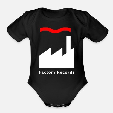 Record Champion Factory Records Retro Record Label Mens Music - Organic Short Sleeve Baby Bodysuit