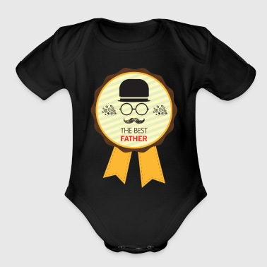 Best Father the best father - Organic Short Sleeve Baby Bodysuit