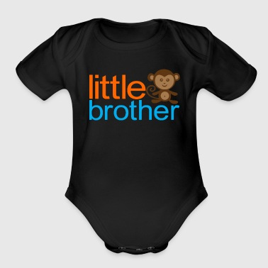 Little Brother - Monkey - Organic Short Sleeve Baby Bodysuit