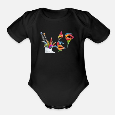 GRAPHISME DE PRODUCTION 2 - Organic Short-Sleeved Baby Bodysuit
