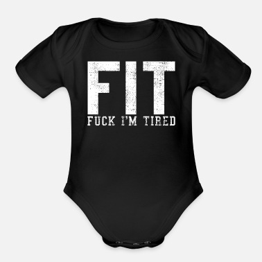 Fitness Fit fitness joke - Organic Short-Sleeved Baby Bodysuit