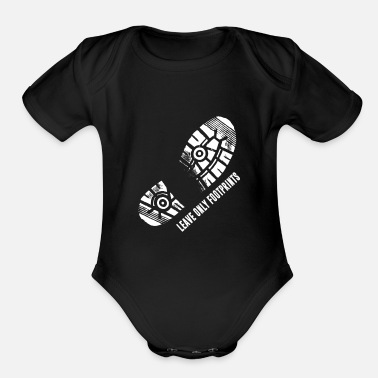 National National Parks Boot Print Shirt Listing - Organic Short-Sleeved Baby Bodysuit