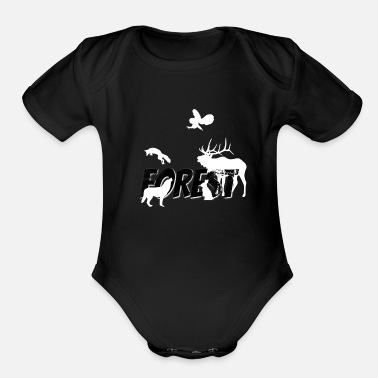 Forest Forest Forest Animals Forest Dweller Forester Gift - Organic Short-Sleeved Baby Bodysuit