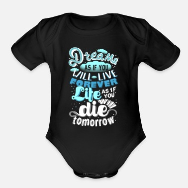 Dream Dream - Organic Short Sleeve Baby Bodysuit